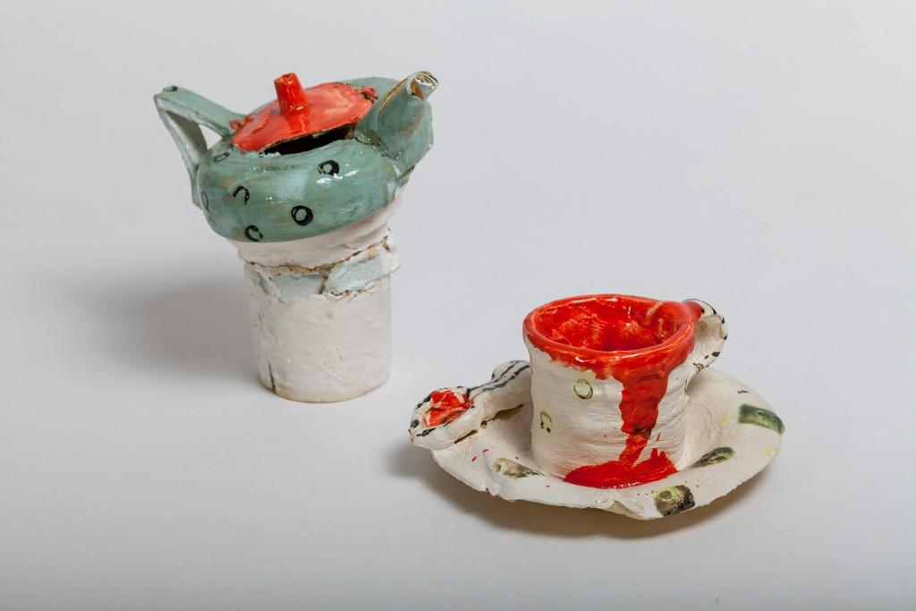 Kanne und Tasse 2014 / H 20 cm / Steinzeug